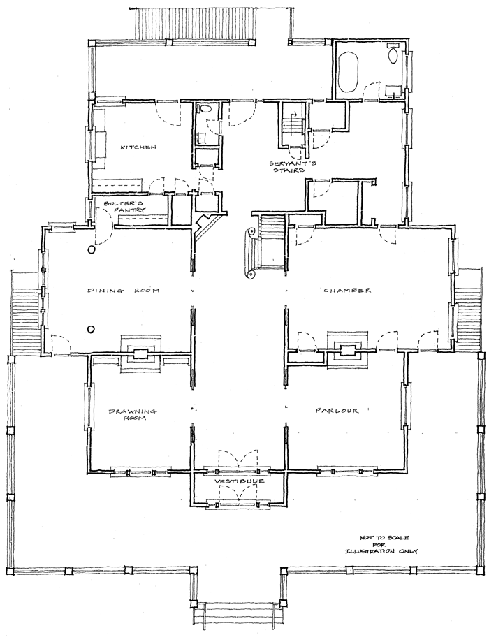 Historic coleman house floor plan for Historical home plans